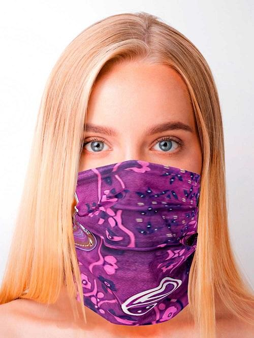 Purple Big Paisley