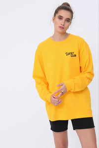 Lucky Cherry Long Sleeve T shirt in Yellow