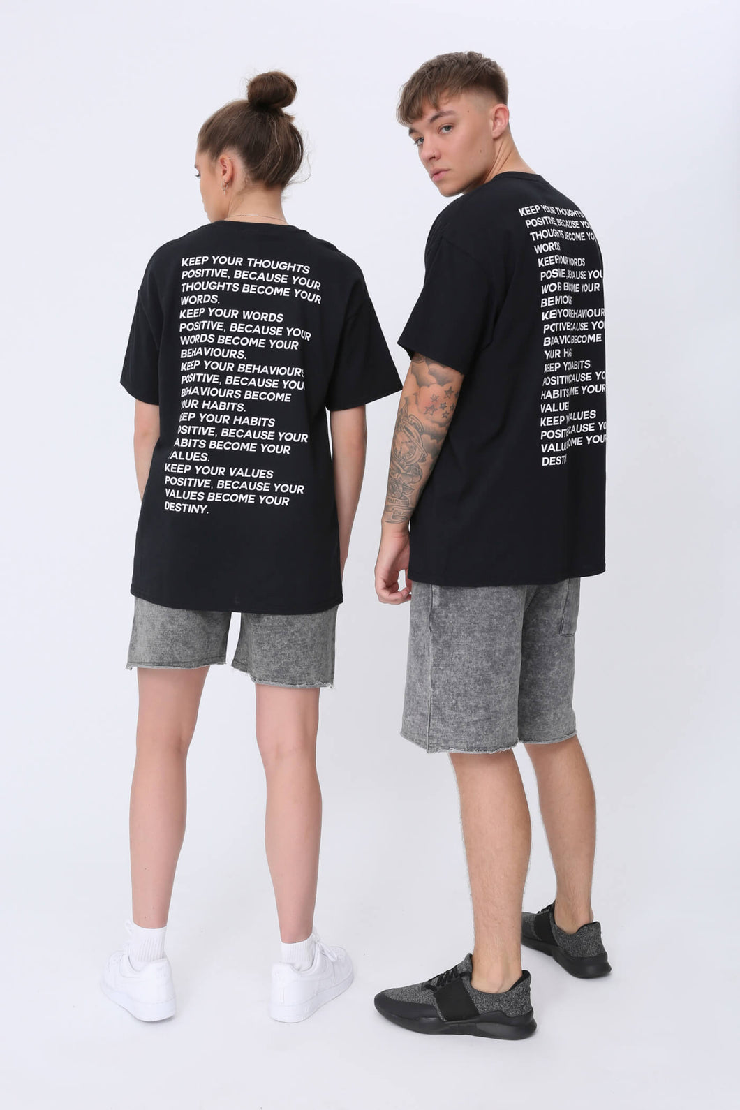 Thoughts T shirt in Black