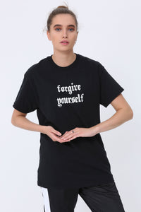 Forgive Yourself T shirt in Black