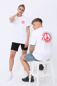 Global Unity T shirt in White & Red