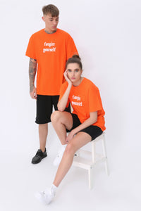 Forgive Yourself T shirt in Caution Orange