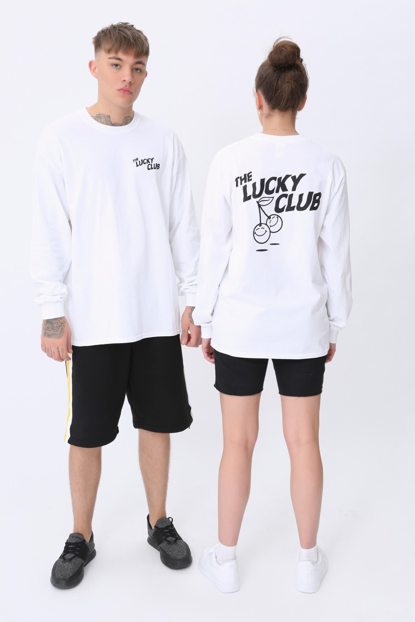 Lucky Cherry Long Sleeve T shirt in White