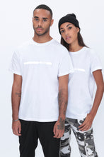 REFLECTIVE Racer T shirt in White