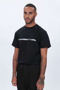 REFLECTIVE Racer T shirt in Black