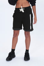 REFLECTIVE Racer Sweat Shorts in Black