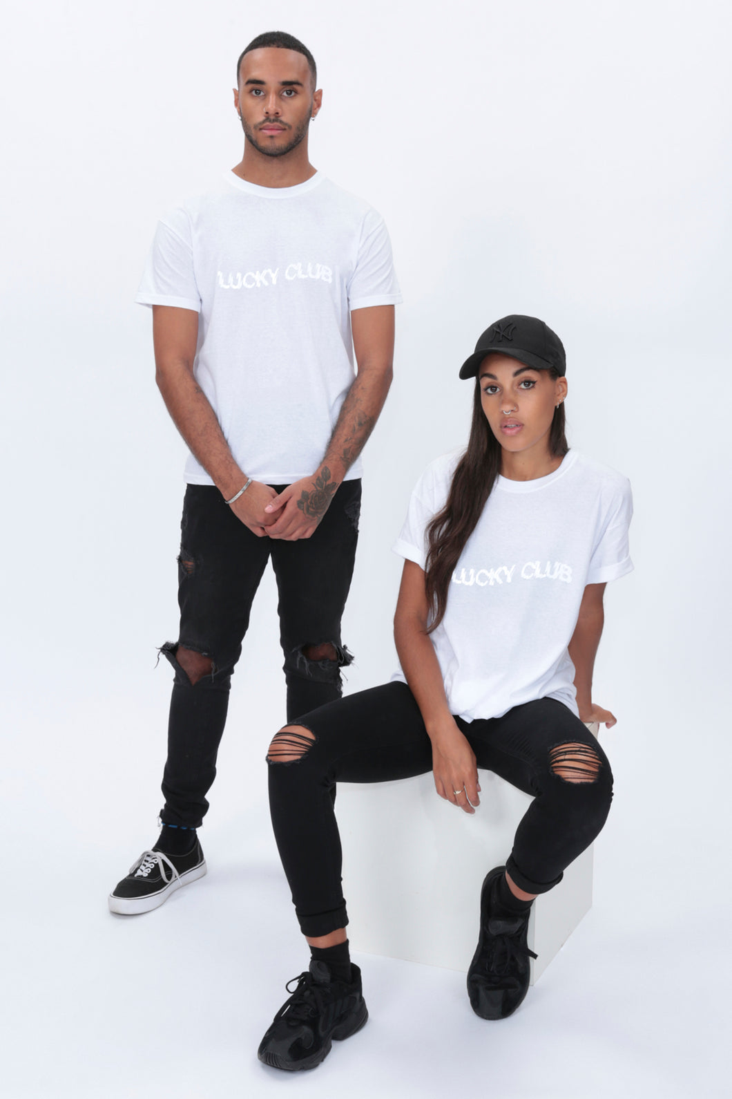 REFLECTIVE Distort T shirt in White