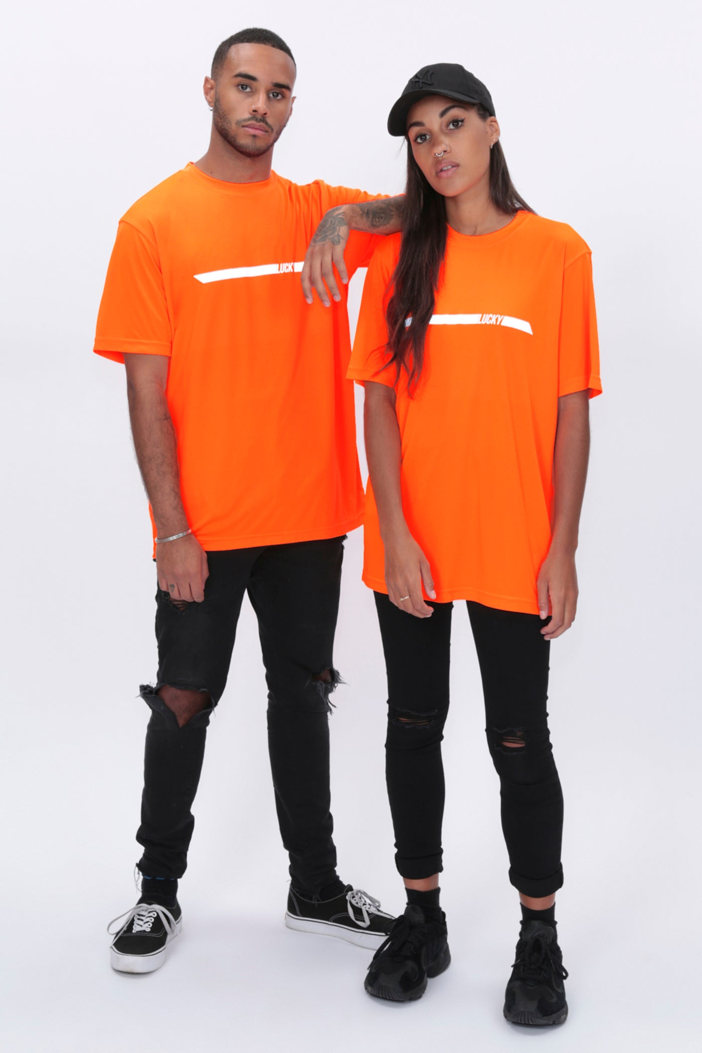 REFLECTIVE Racer Tee in Neon Orange