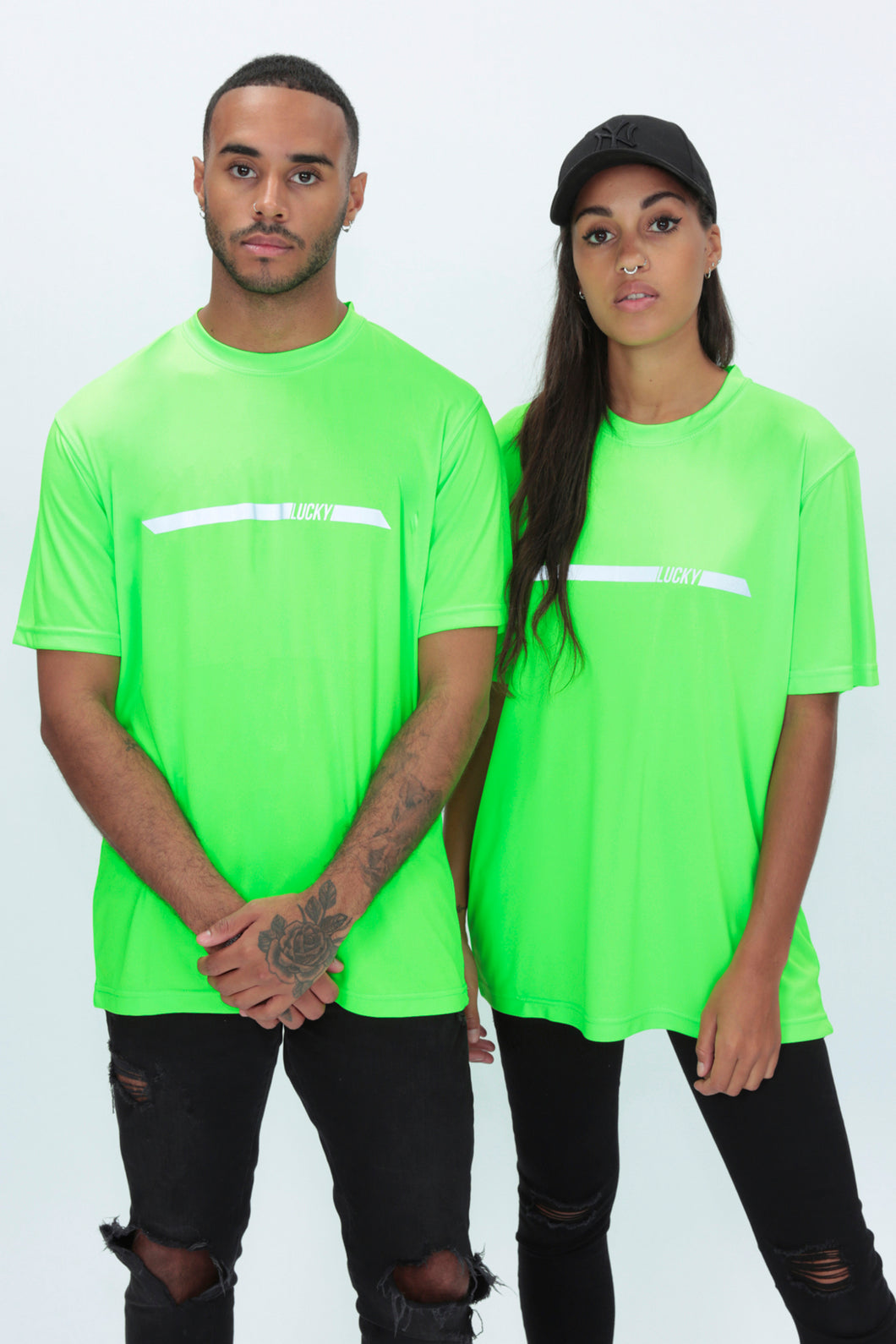 REFLECTIVE Racer Tee in Neon Green