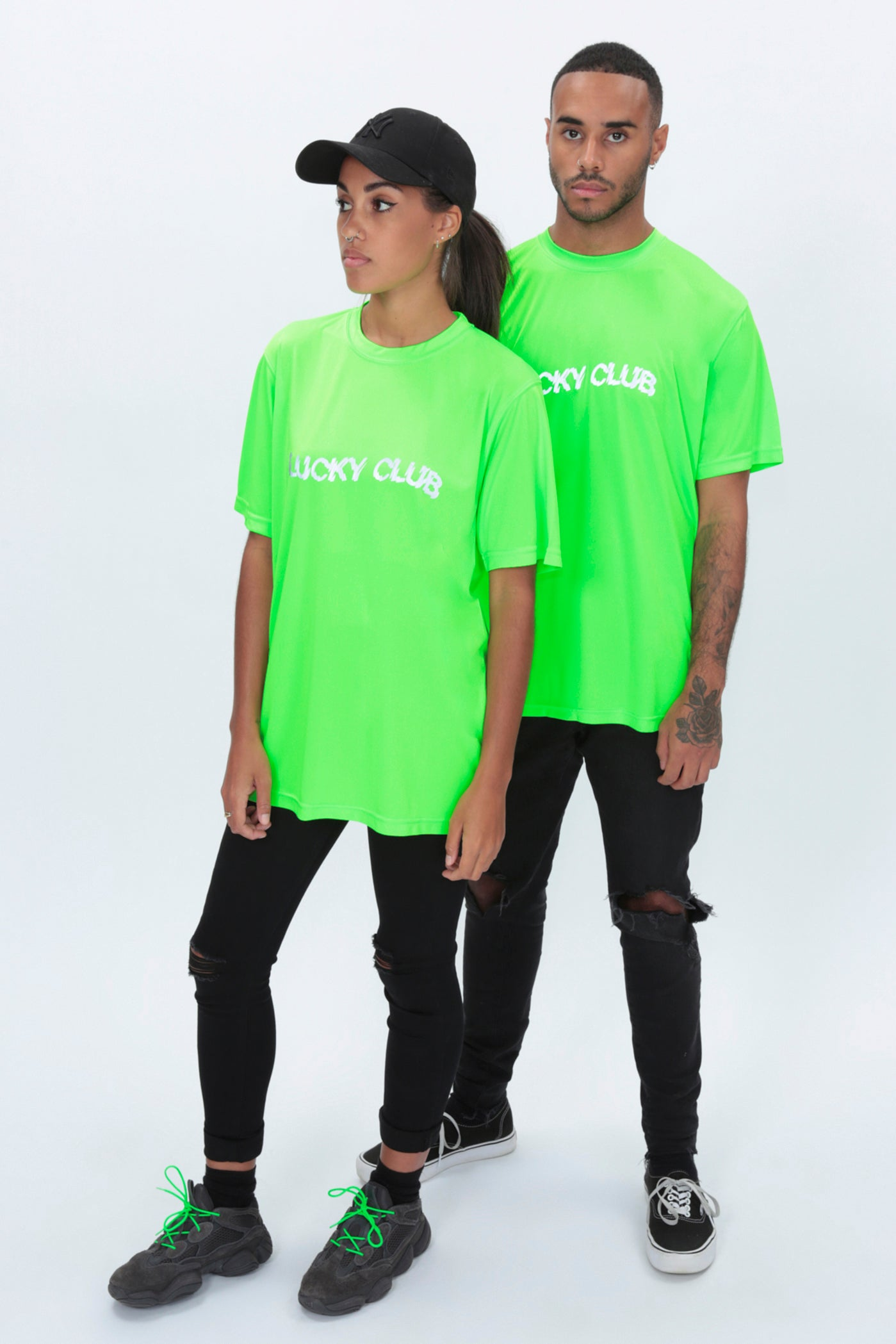 REFLECTIVE Distort Tee in Neon Green
