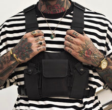 Military Chest Bag in Black