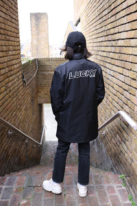 ESSENTIALS Windbreaker Jacket in Black