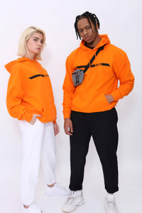 Racer Hoody in Caution Orange