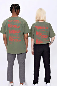 Thoughts T shirt in Khaki