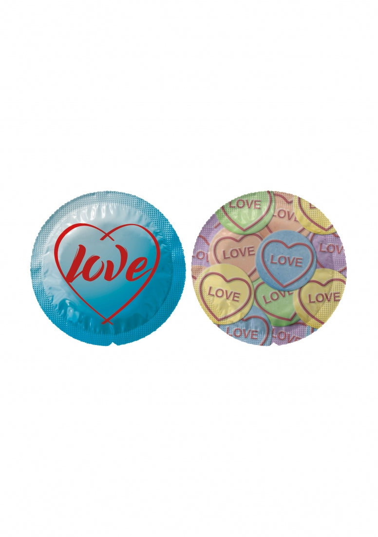Exs Themed Love Hearts - 100 pack