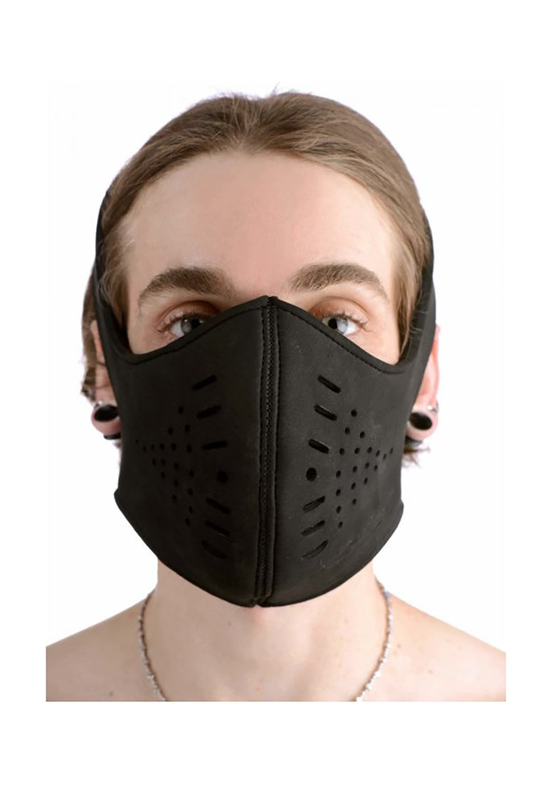 Neoprene Snap On Face Mask - Black