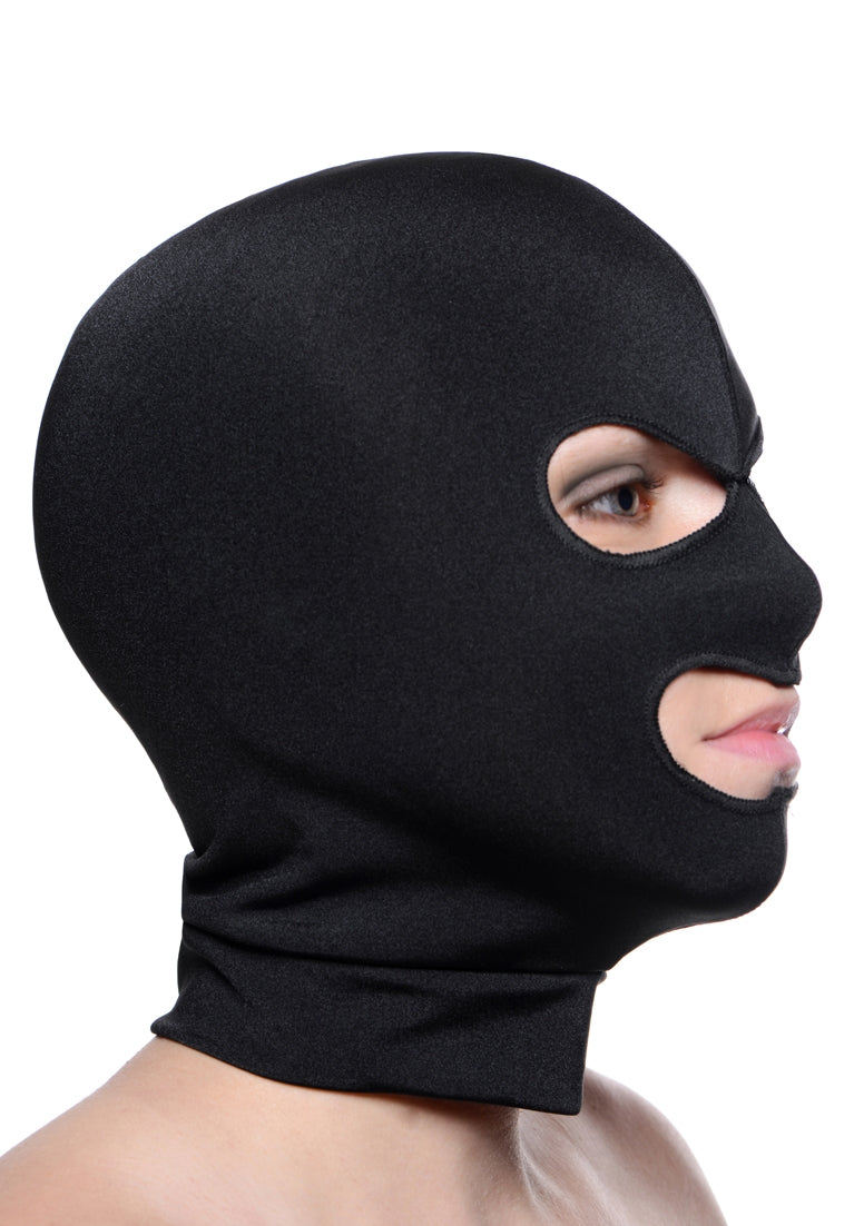 Spandex Hood With Eye And Mouth Holes
