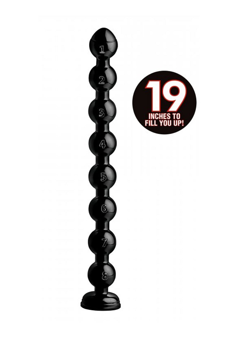 "2"" Beaded Hose - 19"" long - Black"