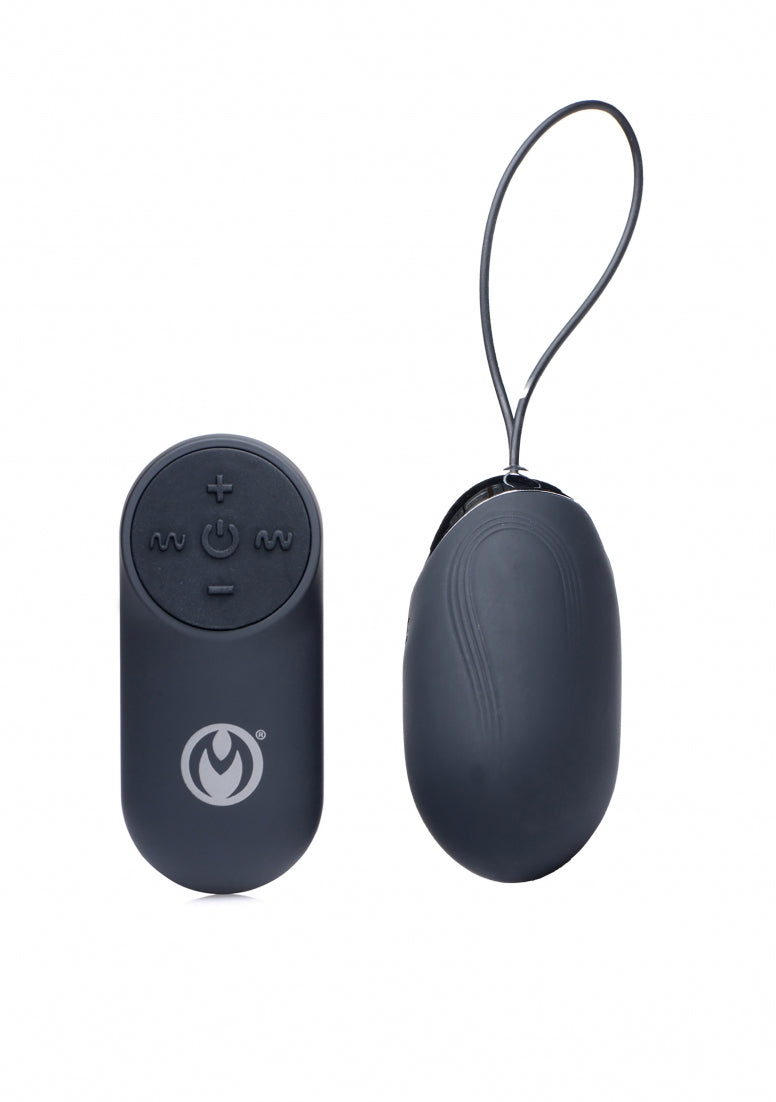 Thunder Egg 21X Silicone Vibrator with Remote Control - Black
