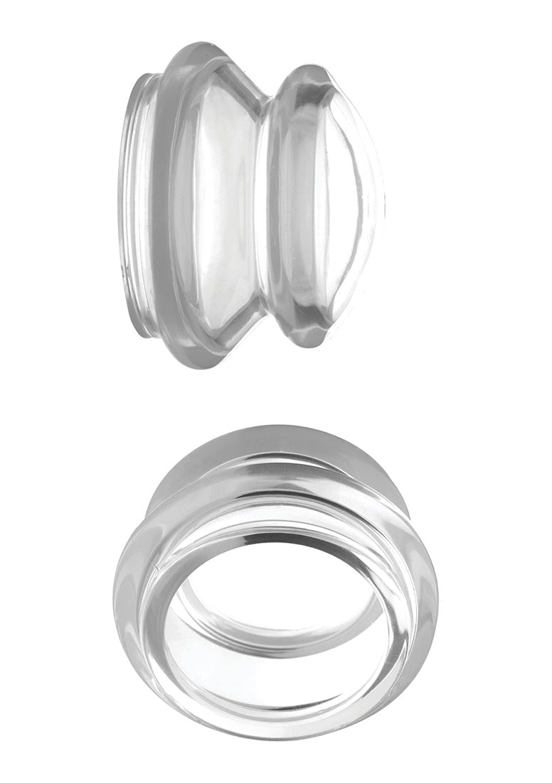 Clear Plungers Silicone Nipple Suckers - Large - Transparent