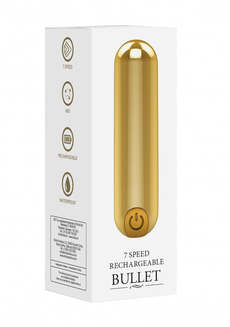 7 Speed Rechargeable Bullet - Gold