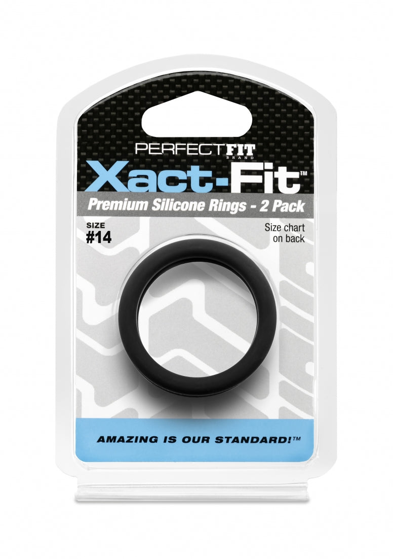 #14 Xact-Fit Cockring 2-Pack - Black