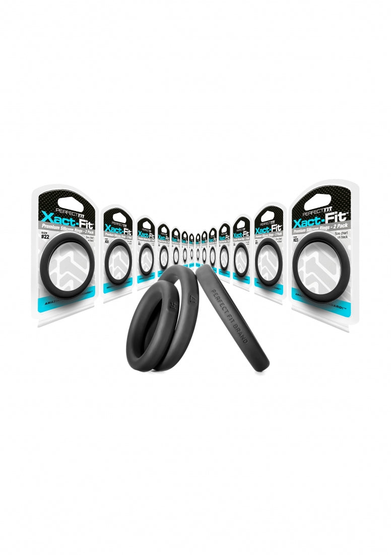 #19 Xact-Fit Cockring 2-Pack - Black