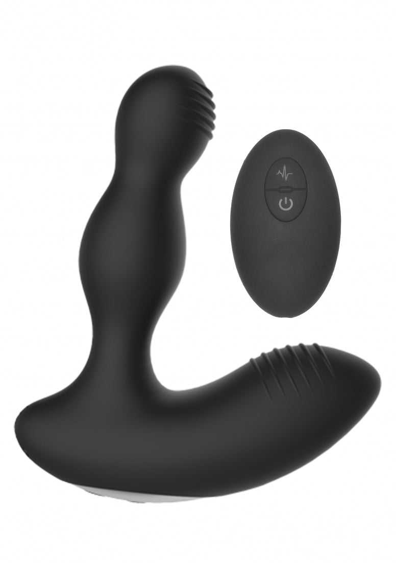 Remote Controlled E-Stim & Vibrating Prostate Massager - Black