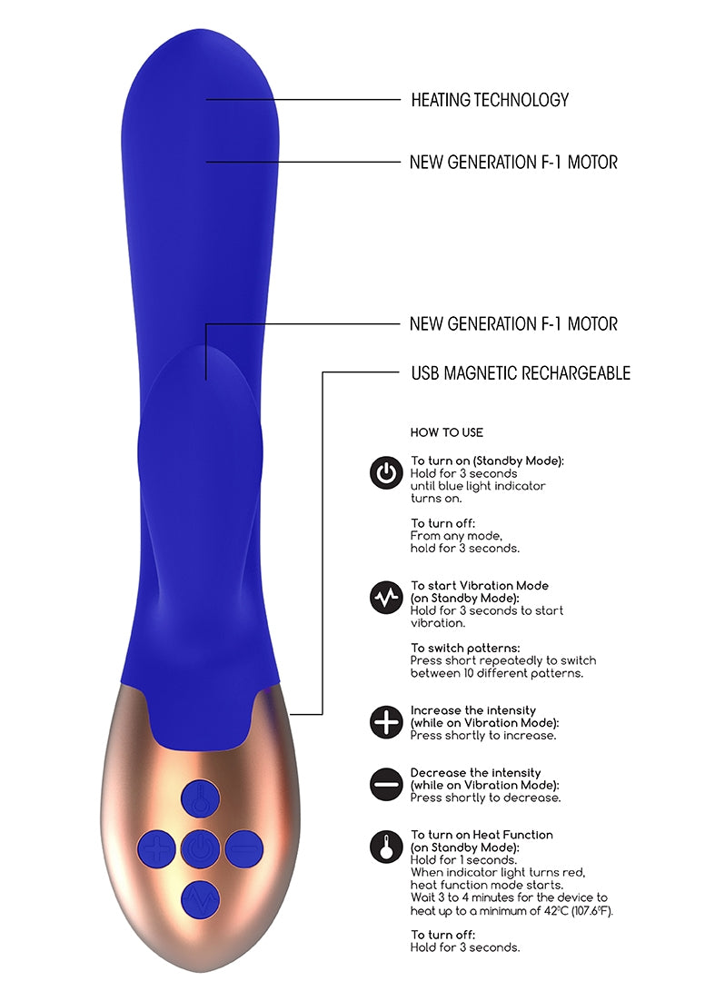 Heating G-Spot Vibrator - Exquisite - Blue