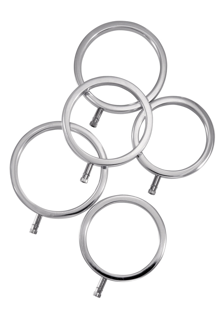 Solid Metal Cock Ring Set 5 Sizes