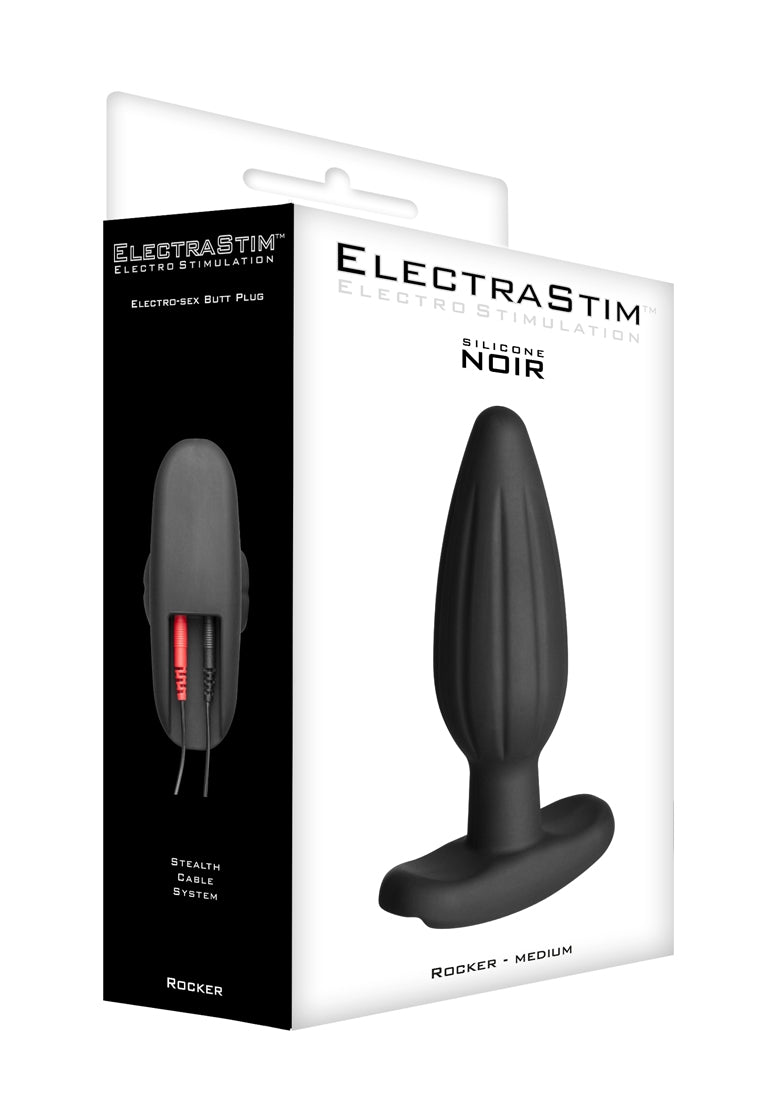 """Rocker"" Silicone Noir Butt Plug - Medium"