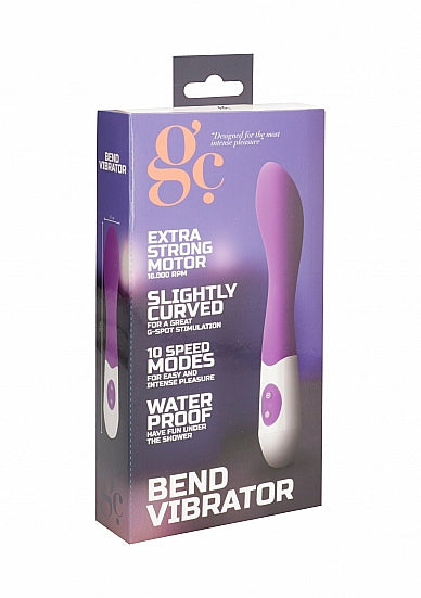 Silicone Vibrators - Vibrator - Bend - Paars - GC