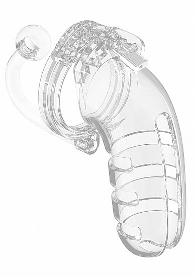 "Model 12 - Chasity - 5.5"" - Cage with Plug - Transparent"