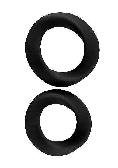 Cockring - Mjuze Infinity - L and XL - Zwart