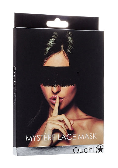 Maskers - Ouch! Mystère Lace Mask - Zwart - Ouch!