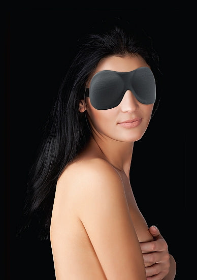 Maskers - Ouch! Curvy Oogmasker - Zwart - Ouch!