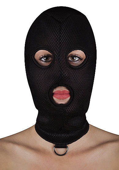 BDSM Maskers - Ouch! Extreme Mesh Balaclave met D-Ring - Ouch!