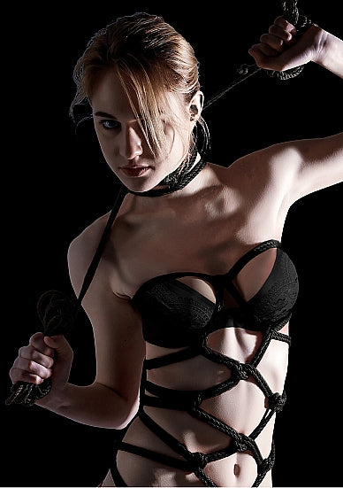 Thick Bondage Rope - 10 meter - Black