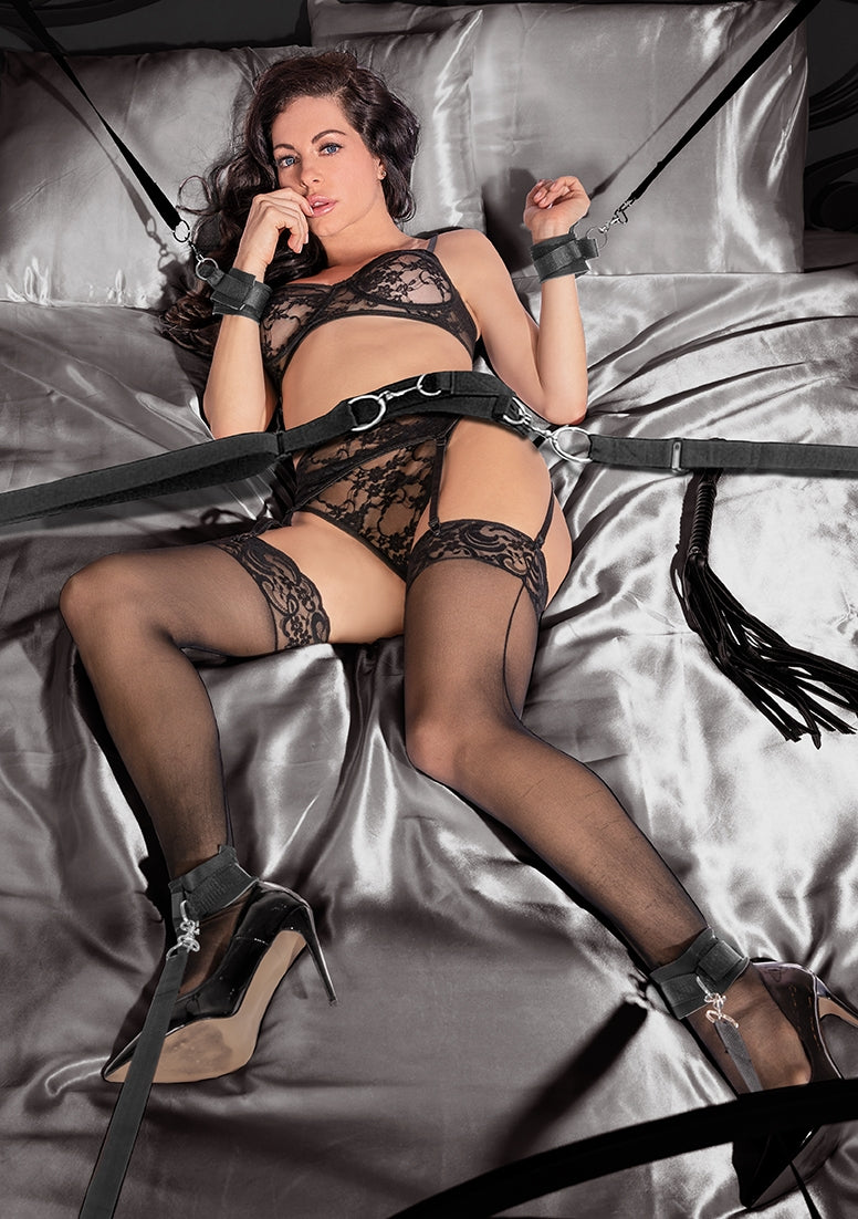 Bondage Belt Restraint System - Black
