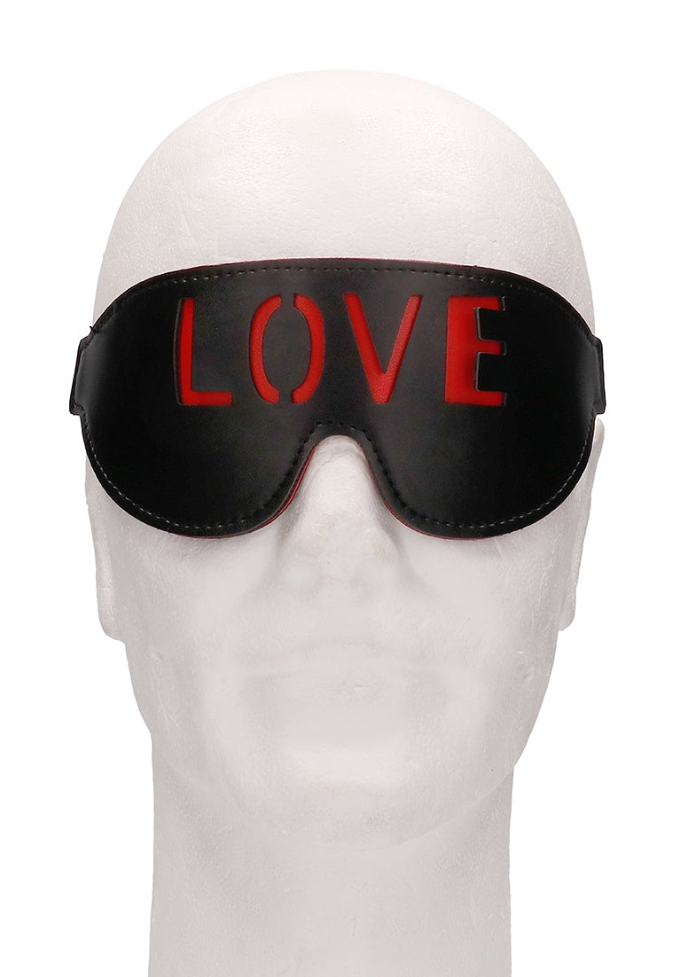 Ouch! Blindfold - LOVE - Black