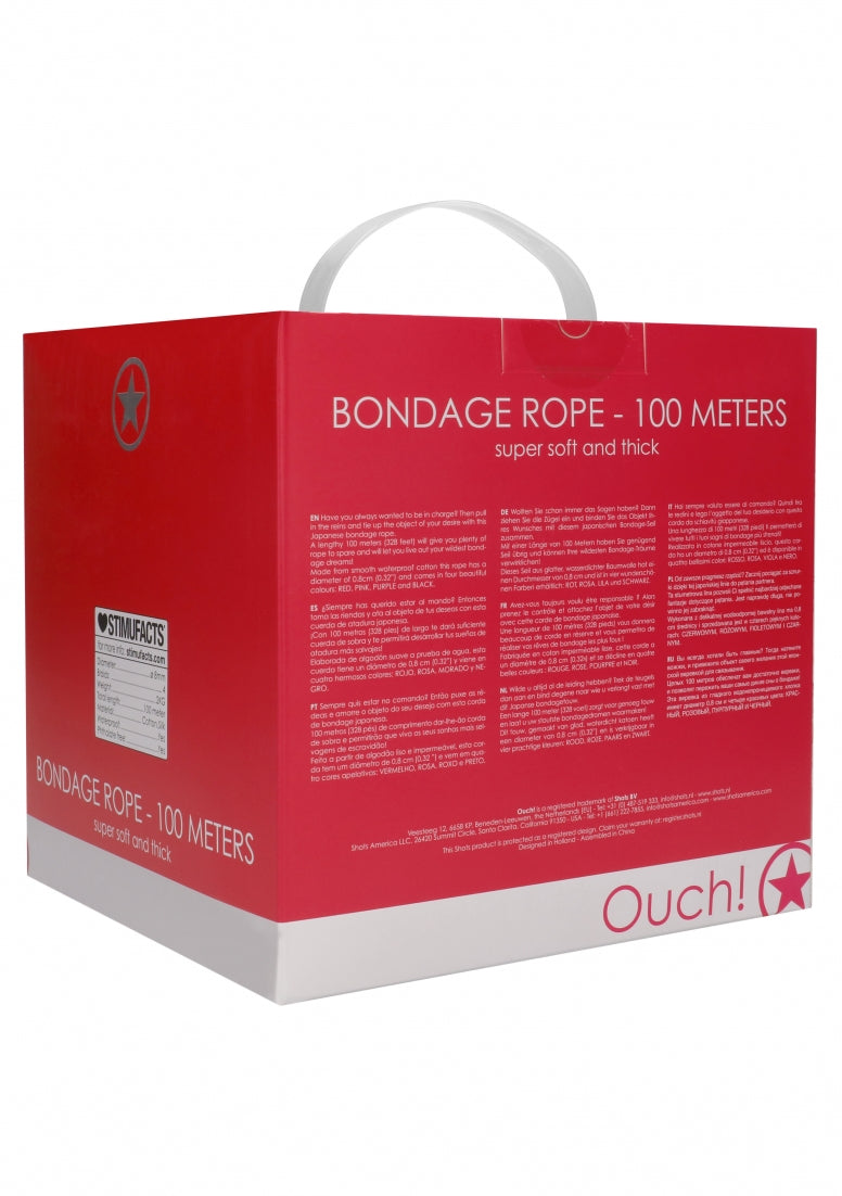 Bondage Rope - 100 Meters - Red
