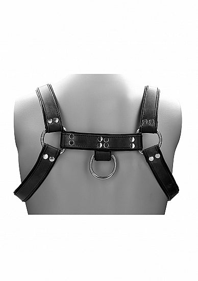 Leather Male Chest Harness - Black