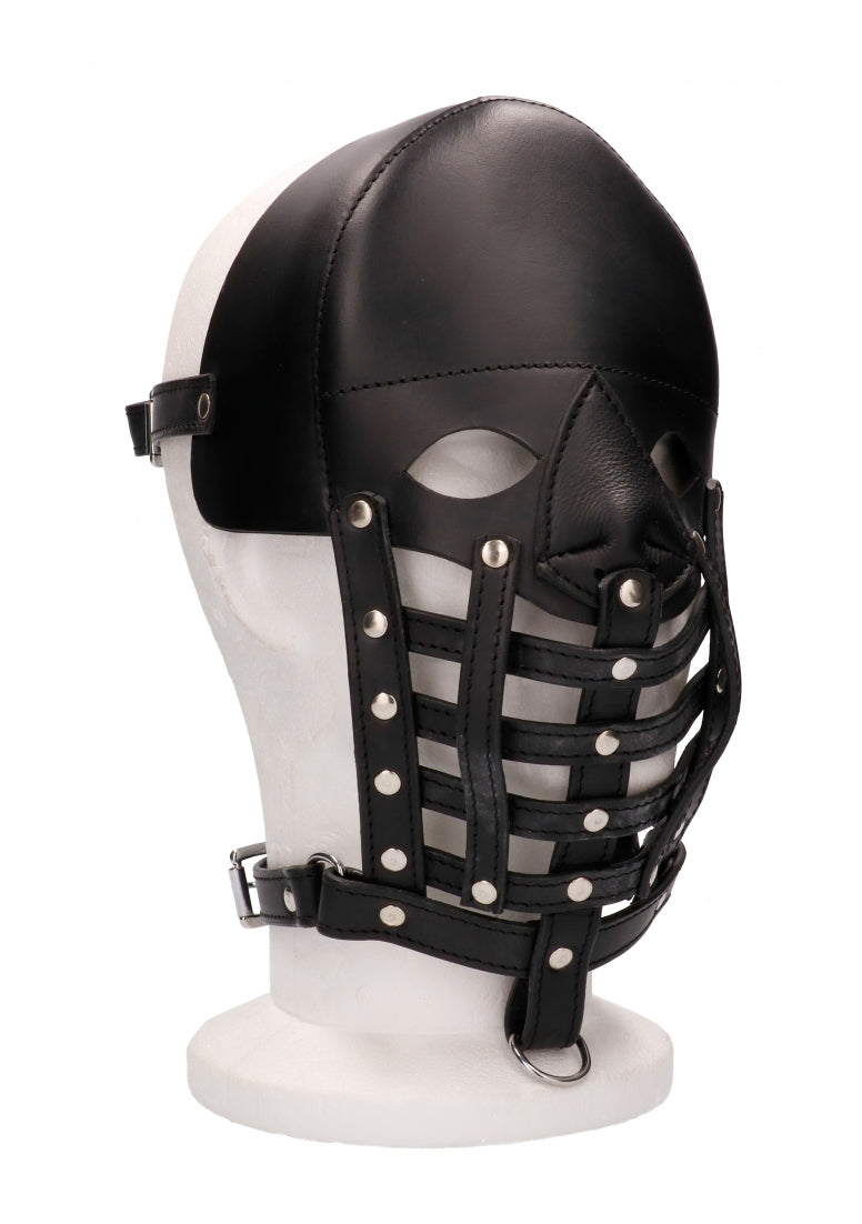Leather Male Mask - Black