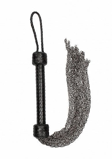 Metal Chain Flogger  - Black
