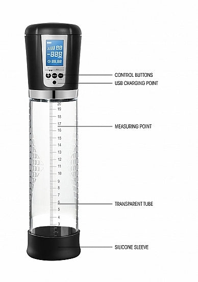 Penispomp - Premium Rechargeable Automatic LCD - Transparent