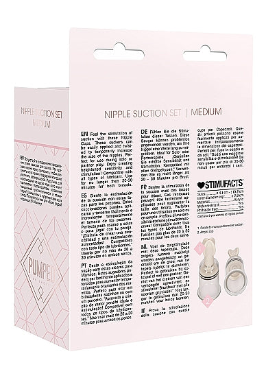 Nipple Suction Set Medium - Transparent
