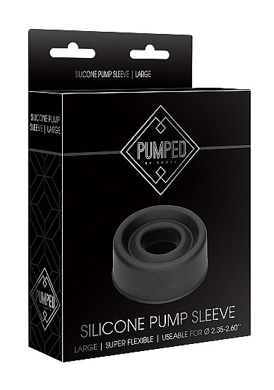 Silicone Pump Sleeve Large - Black