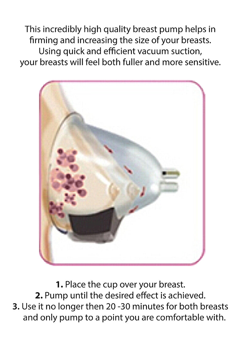 Automatic Rechargeable Breast Pump Set - Large - Pink