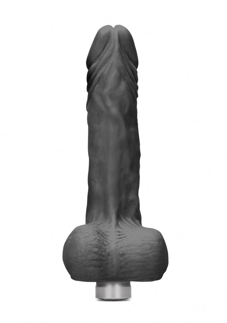 Realrock 10-25 cm  Vibrating Dildo With Balls - Black