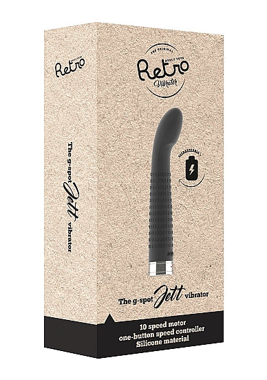 Bullets & Mini G-Spot Vibrators - Retro Jet Mini Vibrator - Zwart - Retro